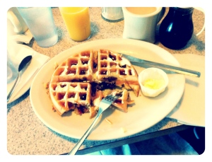 serious bacon waffle